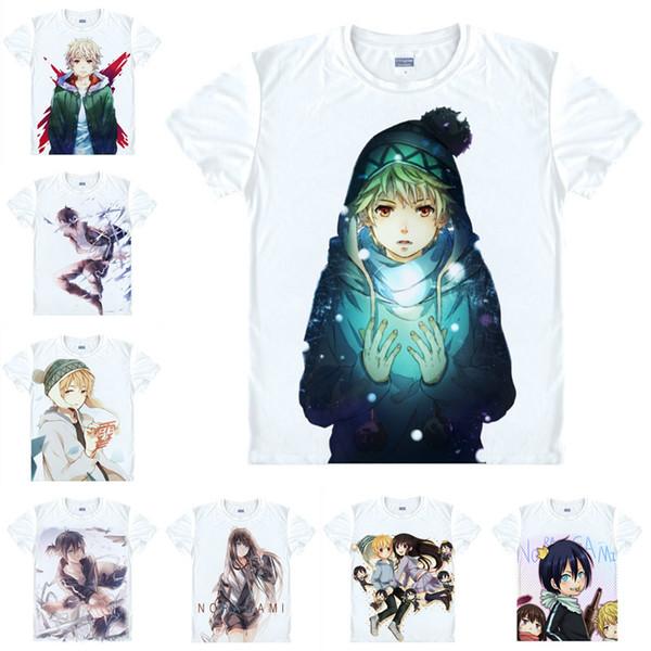 Japanese Anime Shirt Noragami, Stray god T-Shirts Multi-style Short Sleeve Yato, Yukine Cosplay Costume Kawaii Gift
