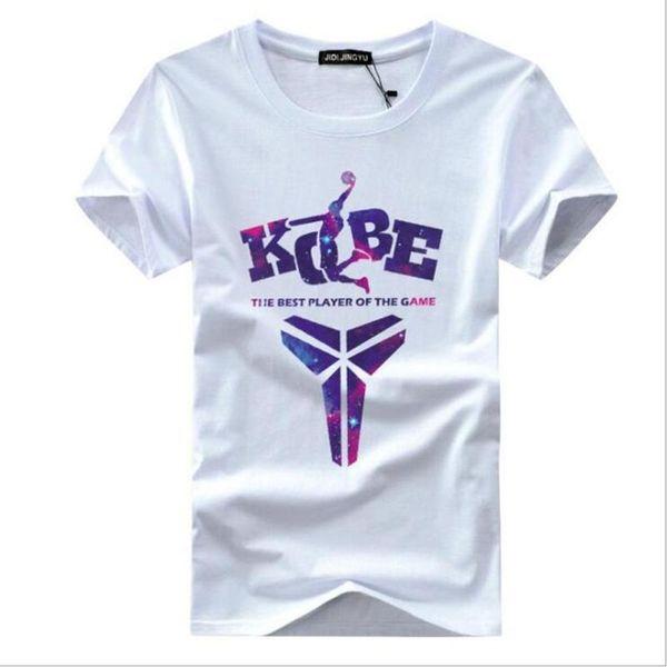 Carta Kobe T-shirt Dos Homens de Algodão de Verão de Manga Curta Impresso Preto Mamba Lembrança Mais Novo Mens Tops Camisa Comemorativa