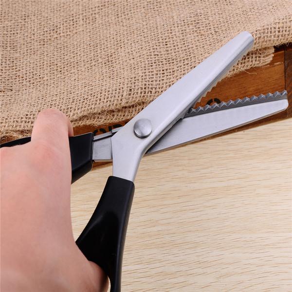 23cm bricolaje herramientas de costura necesarias Tijeras de sastre 3/4/5 / 7mm Zigzag / Wave encaje tijeras de modista Forfex YKS009