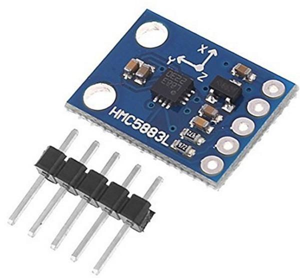 GY-273 HMC5883L Modülü Üçlü Eksen Manyetik Alan Modülü Manyetometre Sensörü Arduino Için 3 V-5 V Modülü Diğer Elektronik Bileşenler B327L