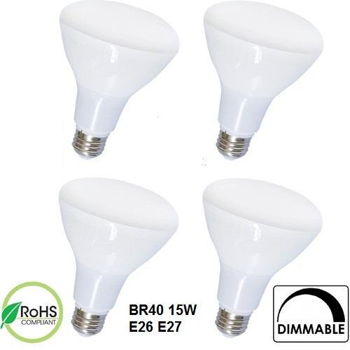 BR20 BR30 BR40 7 Вт 9 Вт 12 Вт 15 Вт Светодиодные лампы накаливания Светодиодный прожектор E26 E27 Светодиодная свеча для внутреннего освещения с регулируемой яркостью Подвеска точечные светильники 50 шт. / Лот