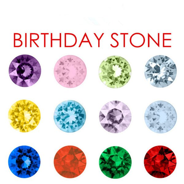 120pcs/lot 12color 3style Crystal Beads Small Twinkling Birthstone Floating Charm for DIY Glass Floating Locket Accessories Easter Gifts