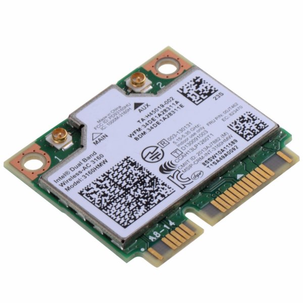 Notebook Computer Network Cards 3160HMW Wifi Bluetooth 4.0 Dual Band Wireless-AC 7260 Fit For Intel Dual 7260 Laptops VCC80 T51