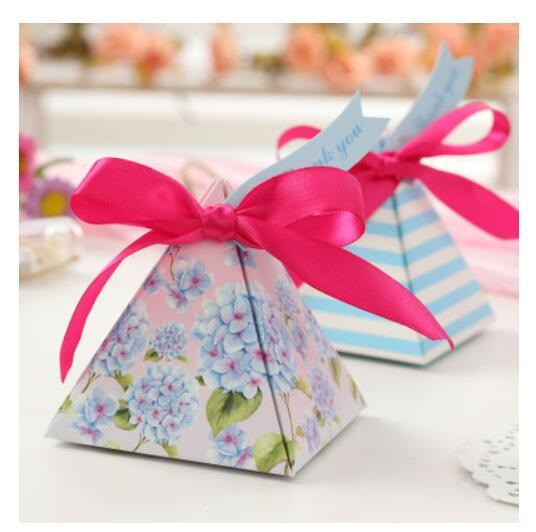 100Pcs PASAYIONE European Elegant Candy Boxes With Floral Printing Favors And Gifts Event Party Supplies Casamento Decoration