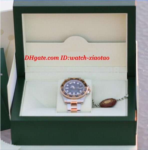 Luxury Wristwatch 18k Yellow Gold Stainless Steel Black Ceramic Bezel Automatic Mens Watch 116713 Men's Sport WristWatches Original Box