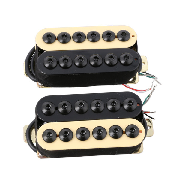 2 PCS Ímã De Cerâmica Invader Estilo Guitarra Humbucker Pickup Pescoço IV / BK