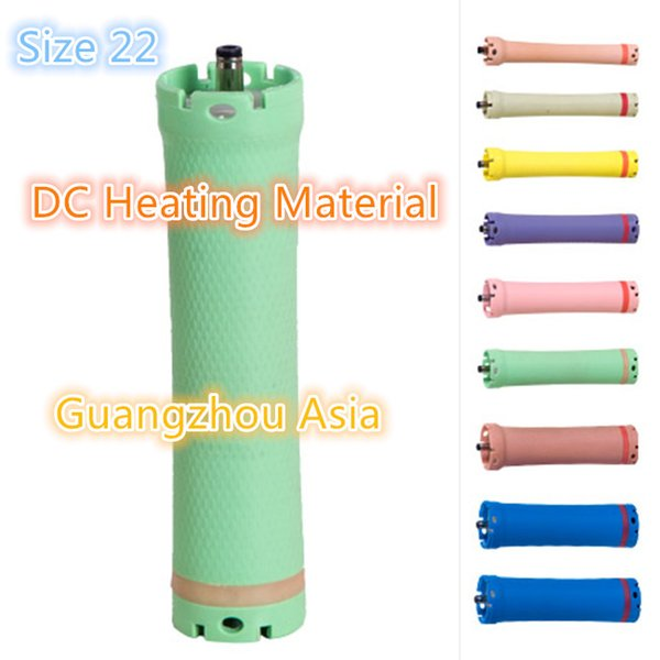 best selling 2017 hot sale salon use hair perm roller, rod, curler, DC material, water-proof, 36V, size 22