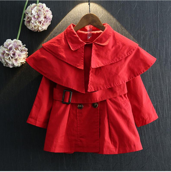 2017 girls long sleeve overcoat cotton outwear baby clothes baby girl princess windbreaker children's fashions coat kids baby kids clot thumbnail