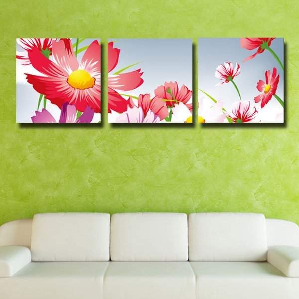 3 Pcs/Set impression sunflower HD Wall Picture Decorative Art Print Painting On Canvas For Living Room Home Decoration #118