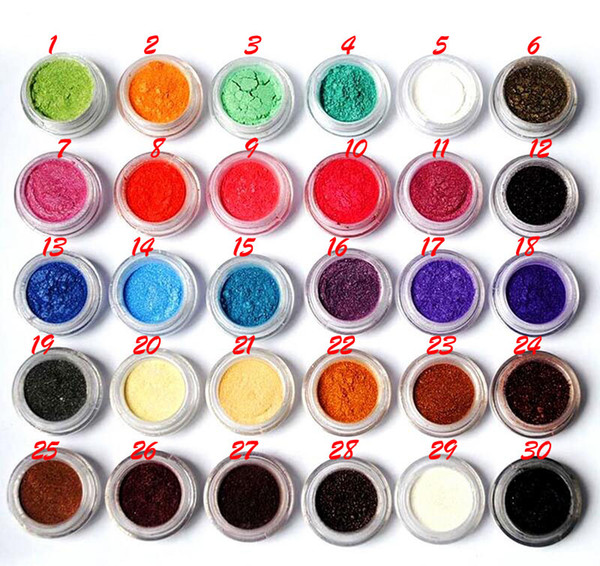 60 Colors Shimmer Eye Shadow Makeup Powder Naked Pigment Mineral Shimmer Matt Shadows Make Up Highlighters Brightens Brands Flash Eyeshadow