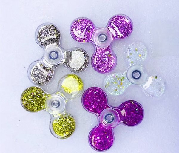 High quality Quicksand Hand Spinner Glitter shiny Liquid fid