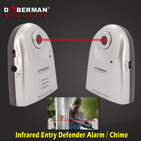 Wholesale- Doberman Security Entry Defender With Chime Home Alert Infrared Motion Detection Sensor Home Security Alarm System
