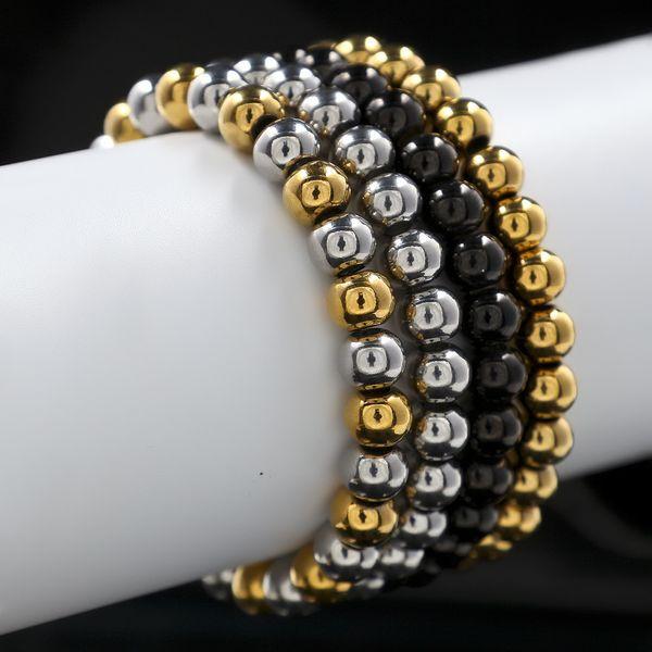 Stainless Steel Hip hop Prayer Beads Bracelet Tibetan Buddhist Mala Buddha Rosary Bijouterie Trinket Charms Bracelet Jewelry Big size