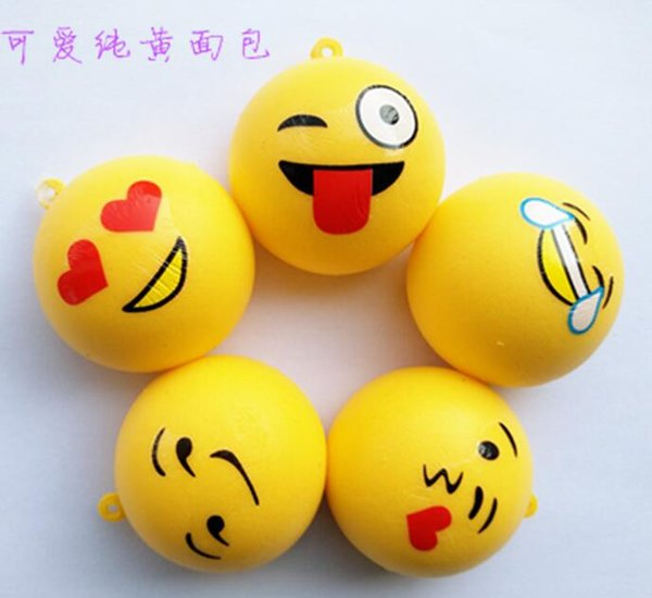 FreeShip 50cm NEW Expression Emotional Smiling Face Bread Squishy Charm Buns Food Charm Cell Phone Straps Pendants