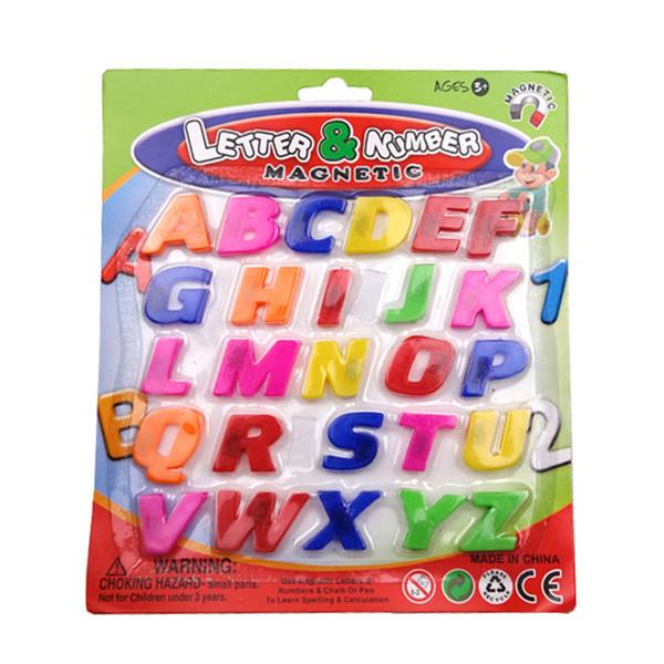 Toptan-Bebek Çocuk ABC Eğitici Oyuncak Renkli 26 adet Mıknatıs Buzdolabı Alfabe Bebek Çocuk Erken Öğrenme Eğitici Oyuncak