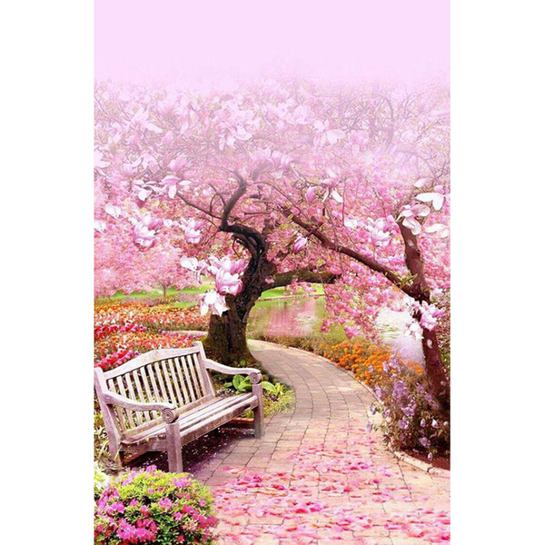 Cherry blossoms Full Drill Diamond Painting 5D Diamond Mosaic DIY Cross Stitch Home Decor Embroidery Handmade Unfinish(Free Shipping)