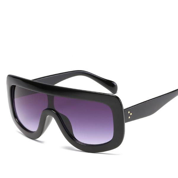 Wholesale- Luxury Charm Sunglasses Kim Kardashian Fashion Vintage Oversized Frame Sun glasses Siamese lens Design Eyewear Retro Eyeglasses