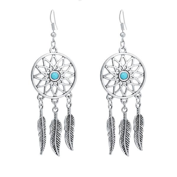 nuevo!!!!!! Par de plata esterlina Dreamcatcher Dangly Pendientes!!!!!