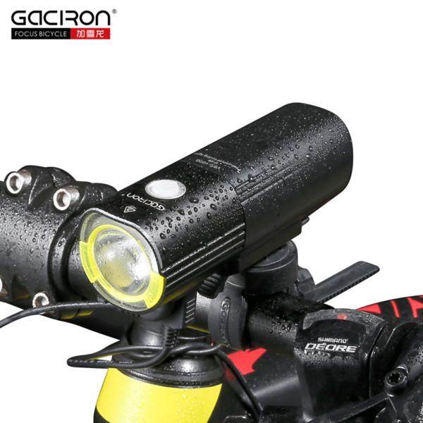 Gaciron Bisiklet Bisiklet Far Su geçirmez 1000Lumens Mtb Bisiklet Flaş Işığı Cephe Led Torch Işık Güç Bankası Bisiklet Aksesuarları