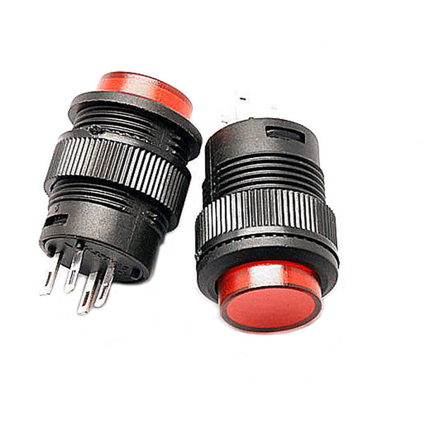2019 R16 503 Ad Off On Led Light Self Locking Latching Push Button Switch Red B00442 From Barbiestore 0 82 Dhgate Com