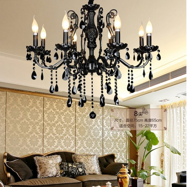 Modern Black Chandelier Bedroom Classical Crystal Chandeliers Vintage China  Lighting Wrought Iron Living Room Dining Room Chandelier Lamps Hanging ...