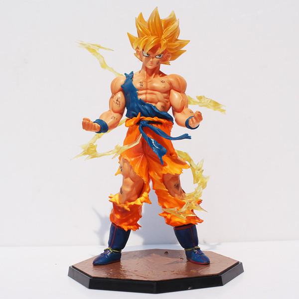 Dragon ball Dragon Ball Z Super Saiyan Son Gokou PVC Action Figure Goku Figures Collection Model Toy Gift With Box 17cm