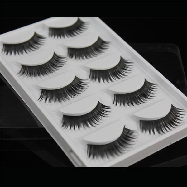 False eyelashes 5 pairs of fan-shaped long paragraph natural curling up the eyelashes W37 Black eye hair Smokey Makeup Eye Lashes