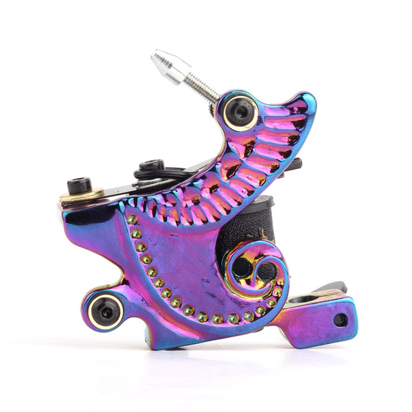 New Arrival Hot Professional Tattoo Gun Machine Handmade Tattoo Machine 10 Wrap Coils Tattoo Machine Free Shipping