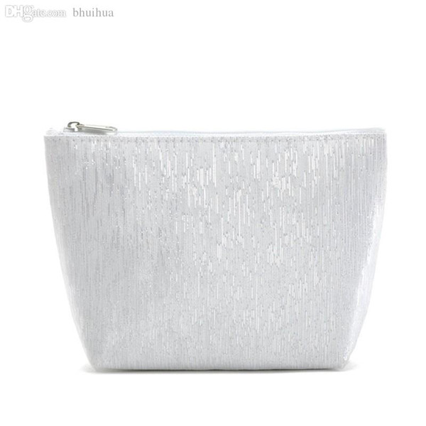 Women silver Cosmetic Bags for Lady makeup and Storage evening bags size 18cm*13.5cm*5cm