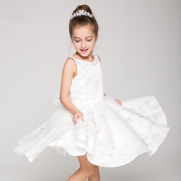 Flower Girl Dresses Real Photo Applique Brithday Party Dress For Kid's Party Ball Gowns Applique Cute First Communion Custom Made BB05