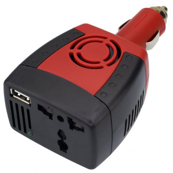 Fuente de alimentación del inversor del coche de la SERIE al por mayor 150w DC 12 v - zócalo universal del cargador del teléfono móvil del transformador del transformador de la CA 220 v