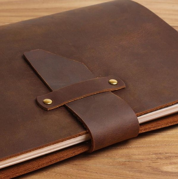 Free shipping LY-NB02 A5 handmade vintage antique genuine leather Loose-leaf notebook replaceable inserts notepads diary planner journal