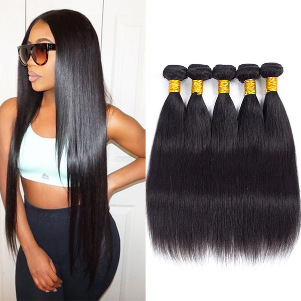 Unprocessed Virgin Brazilian Straight Human Hair Bundles Top Quality Peruvian Human Weaves Silk and Soft Hair Extensions Double Weft For you