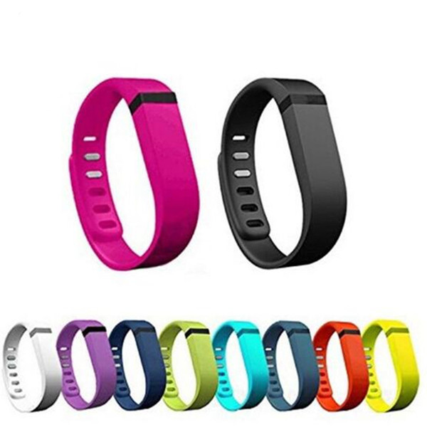 cinturino in silicone per fitbit flex smart cinturino cinturino sportivo fibbia bracciale orologio intelligente in tinta unita materiali ecologici GSZ272