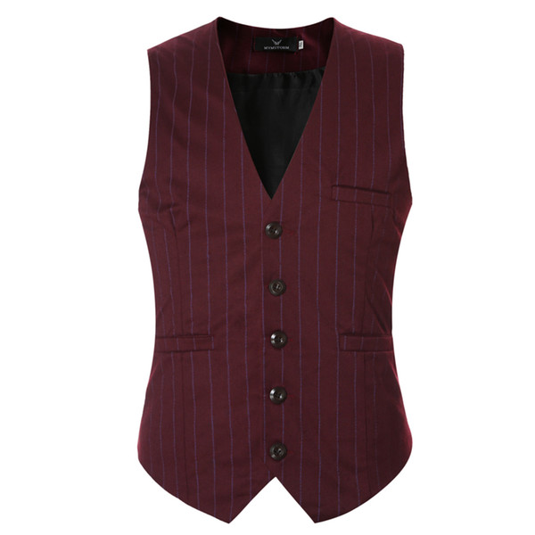 Wholesale- Men Suit Vest Black Grey V neck Collar Classic Dress Slim Fit Vests Male Sleeveless Brand Mens Formal Wedding Waistcoat 3XL