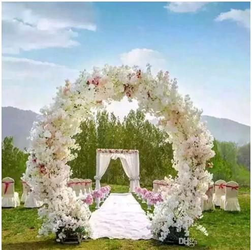 1 Meter Long Artificial Simulation Cherry Blossom Flower Bouquet Wedding Arch Decoration Garland Home Decor Supplies