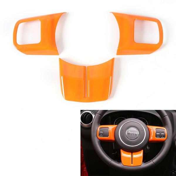 12pcs Orange Car Interior Decoration Trim Kits For Jeep Wrangler JK 2011-2017 se