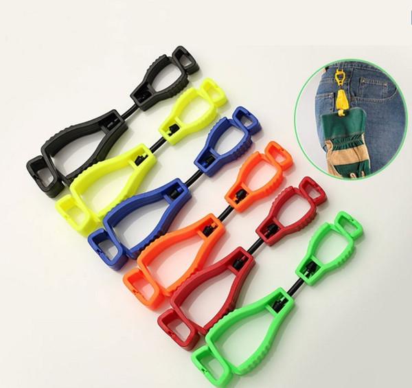 Toptan 128 * 32mm metal tespit plastik Eldiven Klip koruyucu Tutucu güvenlik iş eldivenleri Guard LLFA