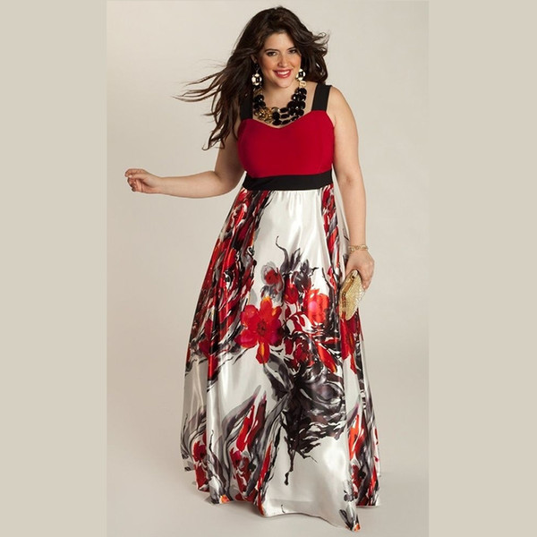 Wholesale- sexy dress vestidos vestido de festa dresses maxi cheap clothes china long women balck ropa mujer roupas 5xl party summer print