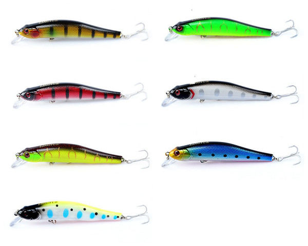 Trolling dive bleeding pattern Colorful Minnow Laser casting bait 10cm 12g flicker Artificial lures for sea bass fishing