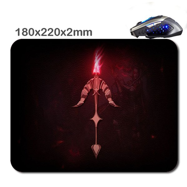 180*220*2mm/290*250*2mm print Top Selling Logo overlocked gaming Anti-Slip Mouse Pad Comfort Wrist Mouse Mat Rectangle Mousepad