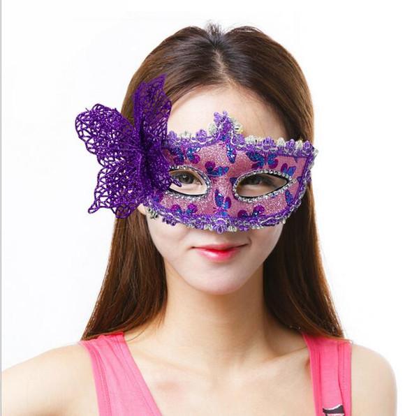 Halloween Makeup Ball Butterfly Mask veneziana patchwork Princess posti G572