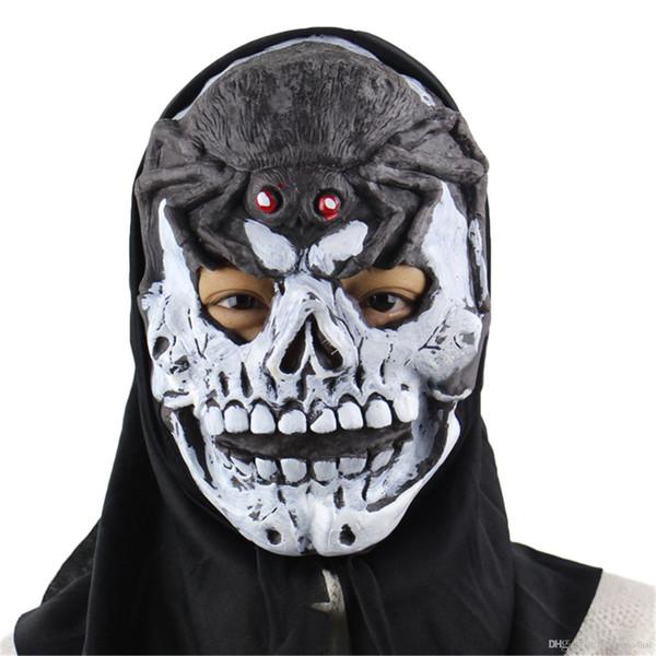 New Halloween Horror Masks White Skull Skeleton Horror Party Scary Mask Cosplay Prop Fancy Dress Decor