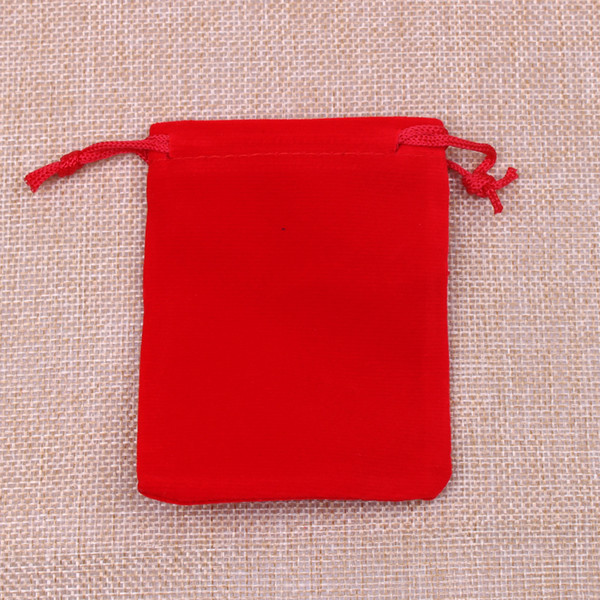Free Shipping 100Pcs 5x7cm Red Velvet Drawstring Pouch Bag Jewelry Bag,Christmas Wedding Birthday Easter Party Halloween Party Gift Bag