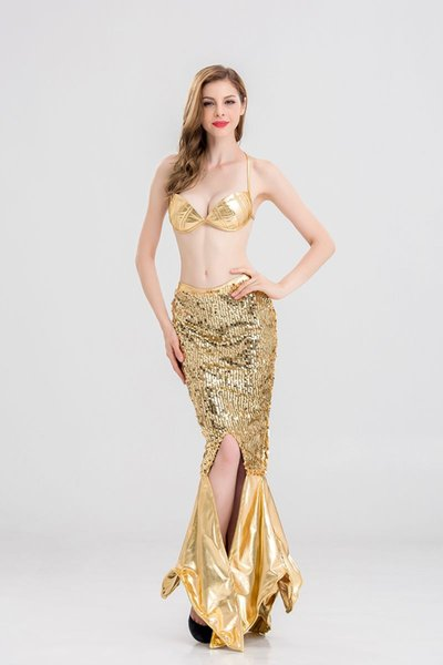 Fashion New Latex Clothing Sequins Flash Color Split Mermaid Party Dresses Halloween Cosplay Mermaid Dress sexy costumes for women nightclub