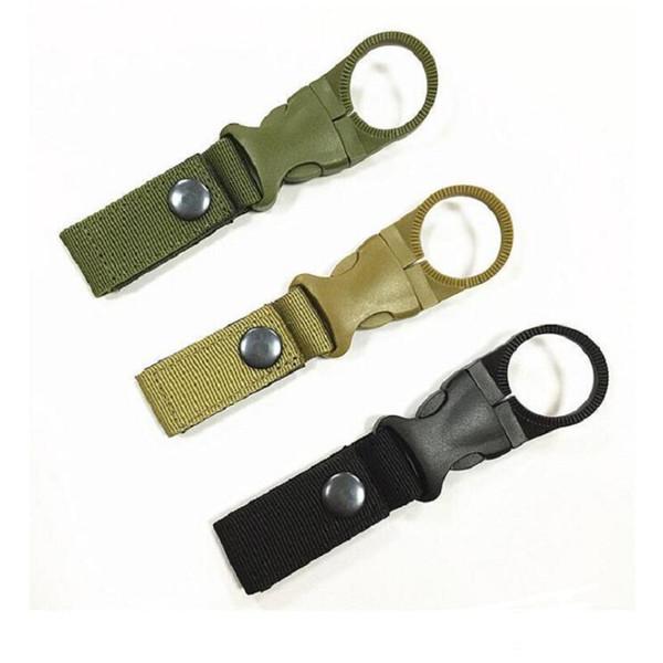 New Outdoor Tactical Nylon Webbing Buckle Hook Water Bottle Holder Clip EDC Climb Moschettone cintura zaino Hanger Camp