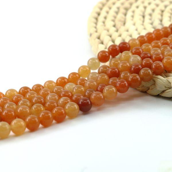 Perles en vrac pierre naturelle Aventurine mélange rouge semi-précieux pour la fabrication de bijoux 6/8 / 10mm Full Strand 15 pouces L0569 #