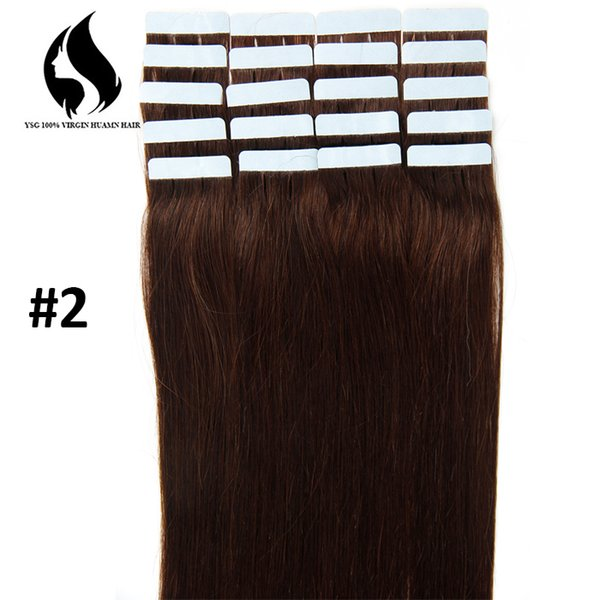 Wholesale Dark Color Tape In Hair Extentions Hot Sale Cheap Prices