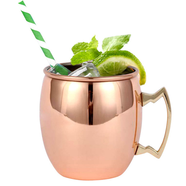 Creativo 18 OZ Moscow Mule Mug 304 Stainless Steel Copper Plating Cup per Vodka Base Cocktail DEC178
