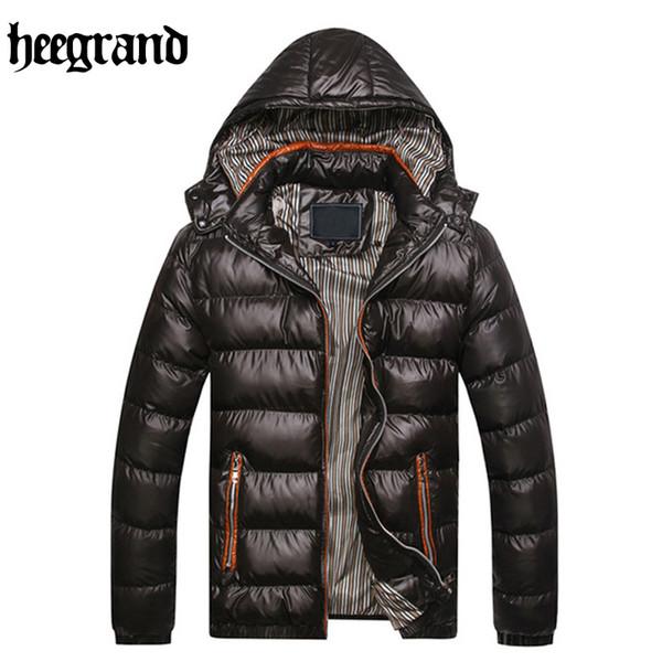 Großhandels-HEE GRAND 2017 neue Art und Weise feste Streifen-Winter-Parka-Jacken-Mann-windundurchlässiger mit Kapuze warmer Mantel MWM516